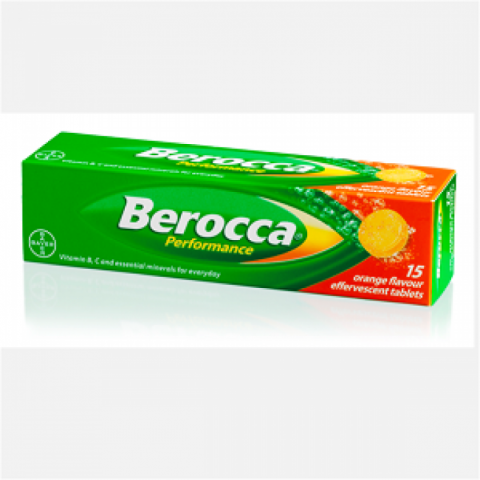 Berocca Tablets Effervescent 15|Buy Online at McDaid Pharmacy Ireland