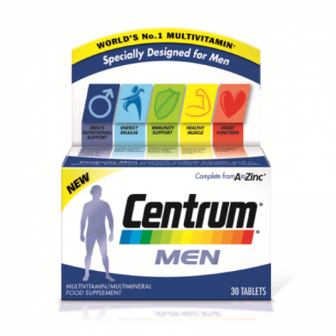 Centrum Men Vitamins 30 tablets