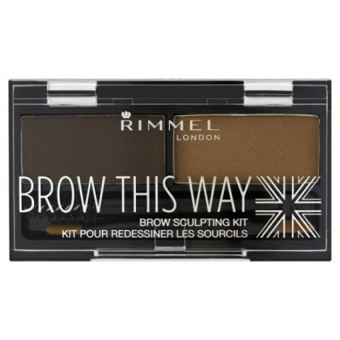 Rimmel Brow This Way Eyebrow Sculpting Kit (Dark Brown)