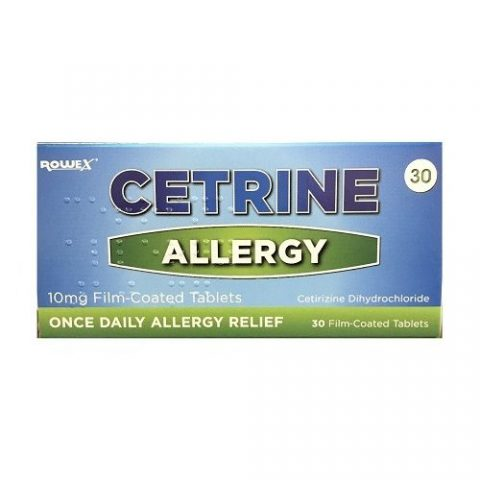Cetrine Hayfever Allergy Relief 10mg Cetirizine Tablets