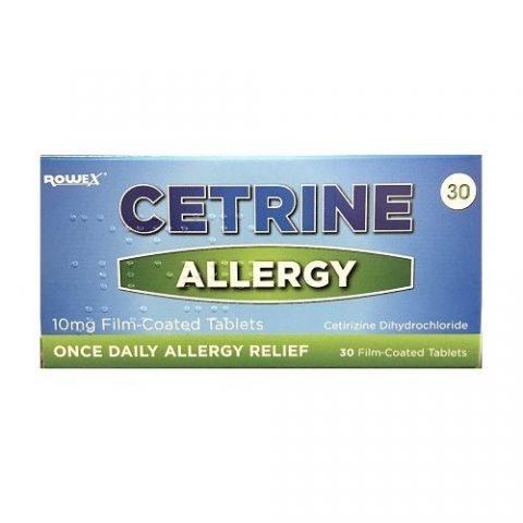 Cetrine Hayfever Allergy Relief 10mg Cetirizine Tablets
